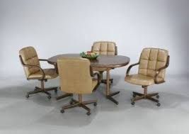 dining chair with casters 6 room chairs