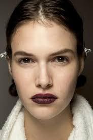 oxblood lips at burberry prorsum spring 2016 oxblood lipstick creative makeup looks evening makeup