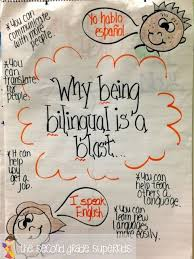 best bilingual education images languages   why being bilingual is a blast anchor chart