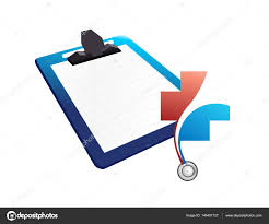 Patient Chart Clipboard Medical Chart Clipboard Illustration Design Stock Photo
