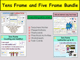 Counting Addition Subtraction Five Frame and Tens Frame Activities ...