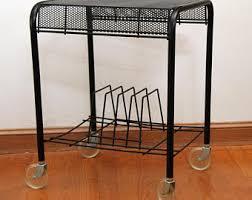 furniture turntable stand. vintage rolling black mesh turntable u0026 lp storagetv stand furniture
