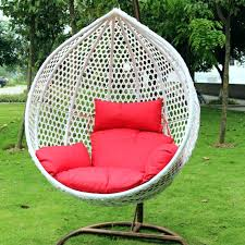 swing seat cushions patio chair self standing two decorating outdoor lounge and canopy cushion