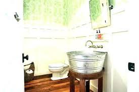 bucket sink bathroom tin s