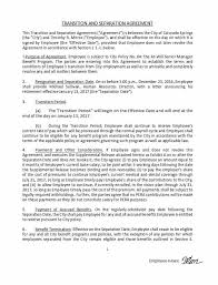 Sample Employment Separation Agreements Amazing 44 Official Separation Agreement Templates Letters Forms