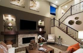 7 tags Contemporary Living Room with High ceiling, Hardwood floors, Arctic  Golden Panel, metal fireplace
