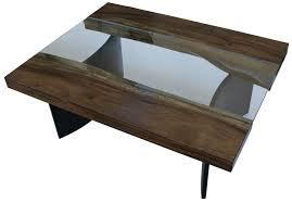 Industrial Coffee Table Live Edge Modern Industrial Coffee Table Mortise Tenon