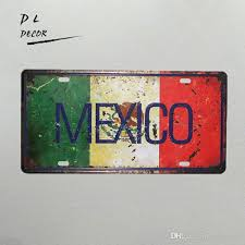 hi friend if you need bulk order please contact us or leave a message for us we will send all of the pictures to you to choose and give you the lowest  on metal lettering wall art with dl mexico map license plate vintage metal sign shabby chic garage