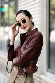 17 best images about ⎯ leathers ⎯ fringe skirt coach burgundy leather jacket thechrisellefactor chrisellelim