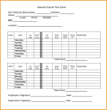 Biweekly Payroll Timesheet Template Hourly Timesheet Template