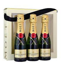 moet chandon brut nv chagne mini bottle gift pack 3x20cl