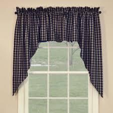 Park Designs Curtains And Valances Sturbridge Navy Blue Swags Swag Curtains Curtains