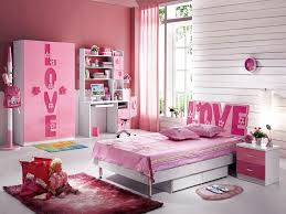 sets girls bedroom. Lovely Cute Girls Bedroom Sets Dominated Pink Colour Equipped Simple Bed Using Padded Mattress Decorated Drawer And Nice Rug