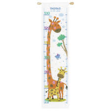 Cross Stitch Height Chart Kit Details About Vervaco Counted Cross Stitch Kit Height Chart Giraffe Pn 0147359