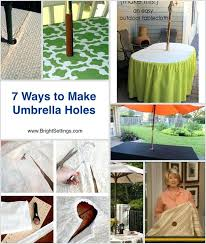round outdoor tablecloth with umbrella hole indoor 7 ways make holes