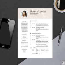 Phone List Template Word Cool Clean Professional Resume Template For MS Word Modern Resume Etsy