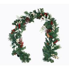 Home Depot Lighted Garland Worth Imports 6 Ft Lighted Decorated Garland With Timer
