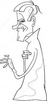 Vampier Cartoon Kleurplaat Stockvector Izakowski 78599868