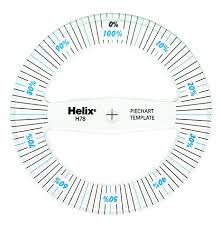 360 Degree Pie Chart Amazon Com Helix 360 Pie Chart Measure 08781 Paper