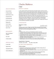Chef Resume Template PDF Free Downlaod