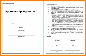 sponsorship agreement 5 sponsorship contract template awards templates