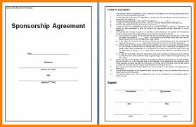 sponsorship agreement 5 sponsorship contract template awards templates