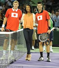 R&B singer Brandy displays fine form against professional tennis ...