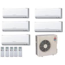 mitsubishi ductless heat pump.  Heat Mitsubishi 18000 BTU 18 SEER Ductless Dual Zone Heat Pump System 66 Throughout 6
