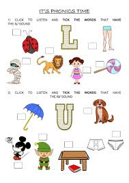 Progress can be assessed on the skills checklist below. Phonics Group 3 U L Worksheet