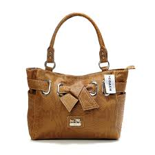Coach Embossed Bowknot Signature Medium Brown Totes DDQ