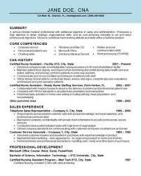 Cna Resume Examples Unique Free Sample Certified Nursing Assistant