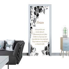 Interior Design Postcards Amazon Com Door Sticker Frame Of Monochrome Colors For