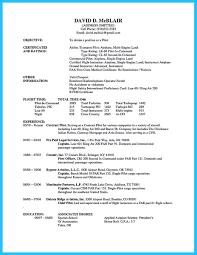 aviation resume format .