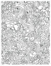 Free Printable Doodle Art Coloring Pages Koshigayainfo