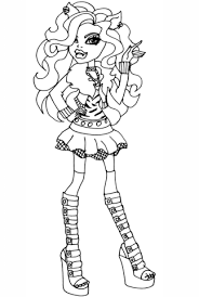 Monster High Clawdeen Wolf Coloring Page Free Printable Coloring