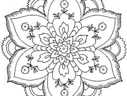 Easy Flower Mandala Coloring Pages At Getdrawingscom Free For