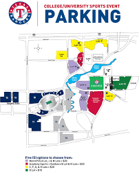 Texas Rangers Stadium Chart Parking Policies During College Games Events Held At