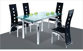 Expandable Glass Dining Room Tables Interior Custom Inspiration Ideas
