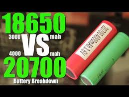Mooch Battery Chart 20700 18650 Vs 20700 Mod Battery Breakdown