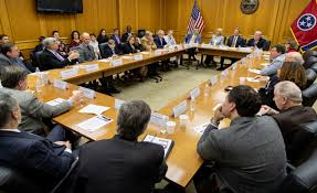 bill lee lead a roundtable discussion on school choice monday at the state capitol in nashville photo courtesy of the u s education department