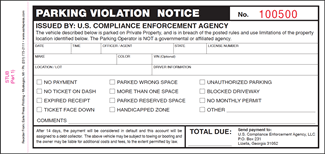notice of violation template ticket and violation books with perforated bottom page 1