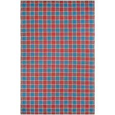 red and turquoise rug bar harbor cape plaid fruit punch 8 ft x ft area rug