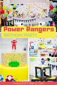 power rangers birthday party via kara s party ideas karaspartyideas com png