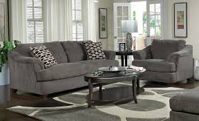 Painted Living Rooms Grey Walls Living Room Brown Cushions Kitchen Dining Space The