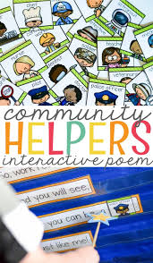 Our Community Helpers Chart Community Helpers Interactive Poem Mrs Jones Creation Station