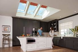 Traditional Kitchen With Modern Skylight Blackout Shade (Image 24 of 25)