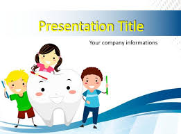 Kids Brushing A Tooth Powerpoint Templates Free Ppt Background