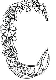 alphabet coloring pages c a to z coloring pages letter c coloring pages alphabet flowers letter c