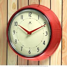 wall clocks for kitchens retro kitchen wall clock retro kitchen clock antique kitchen clocks red frame