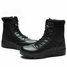 mens army tactical comfort leather combat military ankle boots work desert shoes 6 6 of 6 see more